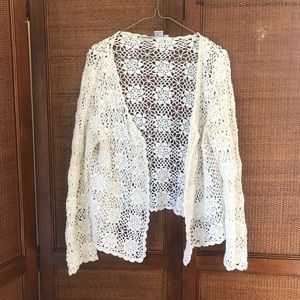 Newport News- Easy Living crotchet knit cardigan